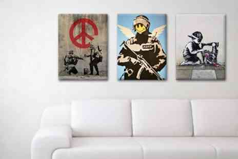 Printed Wardrobe - Banksy Canvas Prints - Save 60%