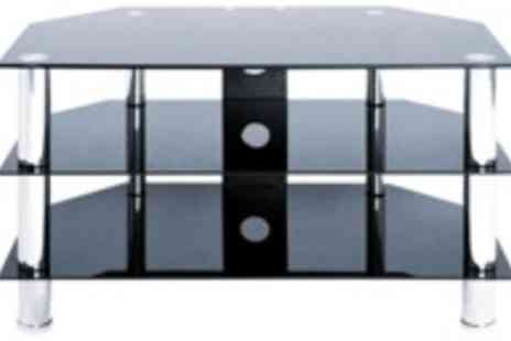 Inspire Home - Black three tier TV stand - Save 57%