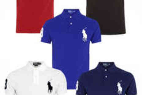 French Polo - Ralph Lauren Short Sleeve Polo Shirt in Red White Blue Black or Navy - Save 50%