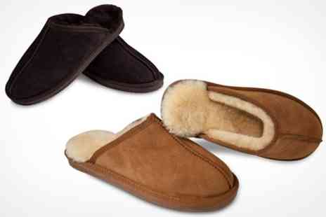 Snow Paw Boots - Mens Sheepskin Slippers - Save 60%