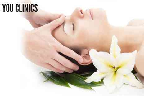 Nu You Clinics - Indian Head Massage Plus Nu You Mini Facial - Save 50%