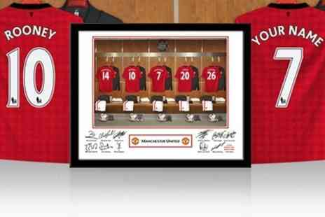 Personalised Football Gifts - Personalised Football Dressing Room Photo With Frame - Save 60%
