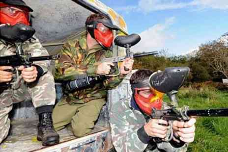 Battlefield Paintball - Game With 100 Paintballs Each - Save 85%