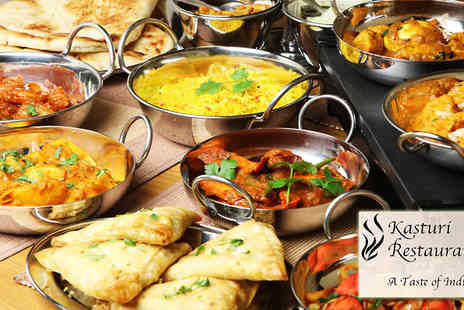 Kasturi Restaurant - Two course India Meal for two - Save 51%