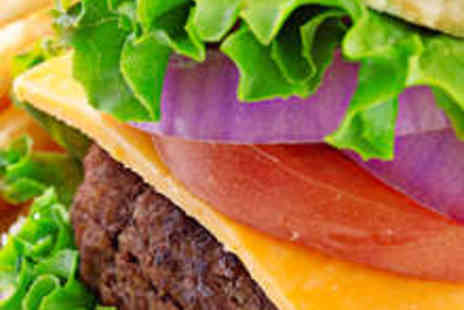 Real Burger - Two 6oz Burgers Two Drinks and Two Ice Creams Plus Large Fries  - Save 51%