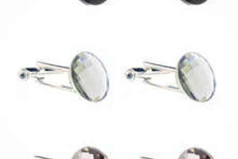 Diamond Style - Swarovski Elements Crystals in Black Diamond - Save 75%