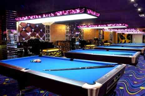 The Arch Manchester - Two Hours of Pool Plus Drinks for Two - Save 64%