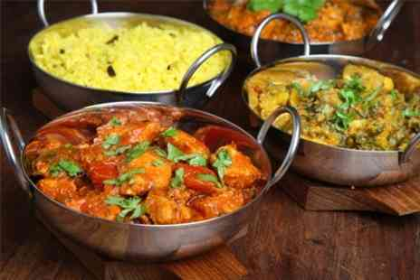 The Atrium Indian Restaurant - Main Course With Side and Rice For Two - Save 32%