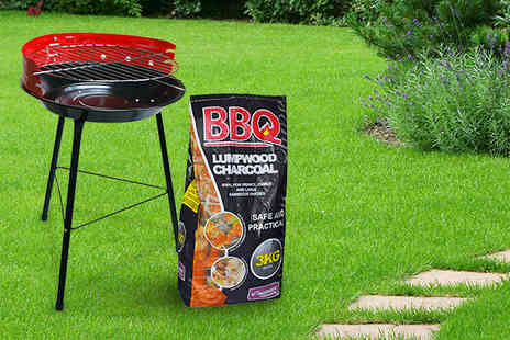 Kingfisher - 14 inch BBQ and 3kg bag of charcoal - Save 50%