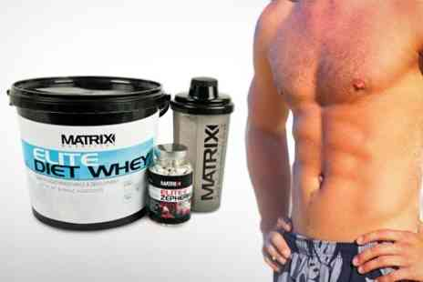 Matrix Nutrition - Matrix Supplement Bundle With Protein Powder Tablets and Shaker - Save 69%