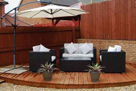 London Rattan - Santorini Cantilever Parasol With Cover - Save 58%