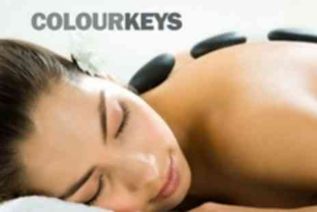 Colour Keys - Hot Stone or Full Body Massage - Save 56%