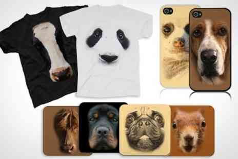 Printed Wardrobe - Animal T Shirt, Coaster Set or Smartphone Cover - Save 50%