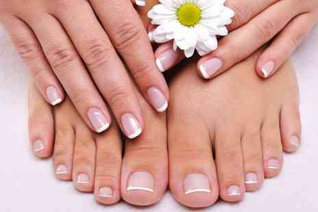Fake It Hair & Beauty - Manicure & Pedicure Treatment at Fake - Save 52%
