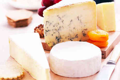 Love Cheese - Five Cheese Lunch Platter to Share with Glass of Wine Each for Two People - Save 50%