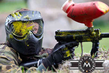 Ministry of Paintball - Paintball Day Entry Pass Including Clothing, Gun, and Gas Refills - Save 92%