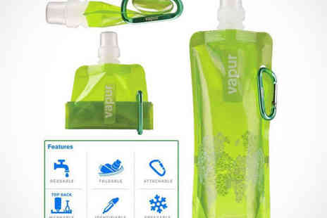 Dodally Buys - Pack of Two Vapur Foldaway Reusable Water Bottles - Save 67%