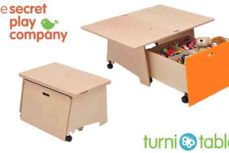 The Secret Play Company - Multi Use TurniTable & Space Saver Toy Box - Save 51%