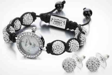 Fire Rock - Shimla Ladies Watch With Matching Earrings in Choice of Style - Save 63%