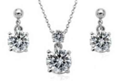 Jewel 2 Sell - Cubic Zircon necklace & earring set - Save 78%