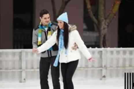 Broadgate Ice Rink - Ice Skating Session With Skate Hire For Two - Save 60%