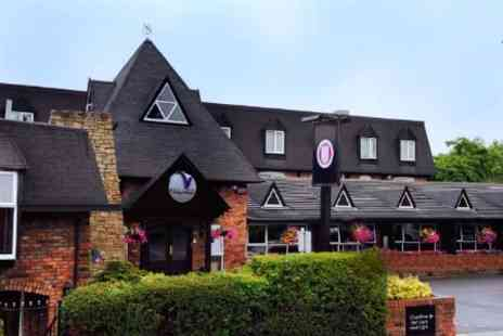 Village Hotel Manchester - In Cheshire One Night Stay For Two With Dinner and Tribute Act - Save 30%