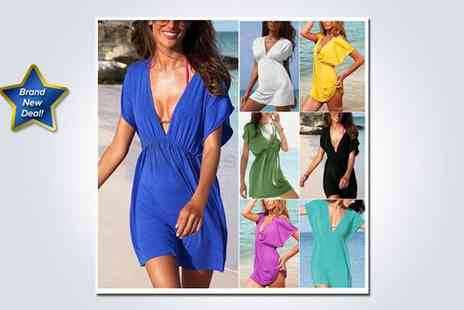EachBuyer - Beautiful beach dress in green - Save 60%
