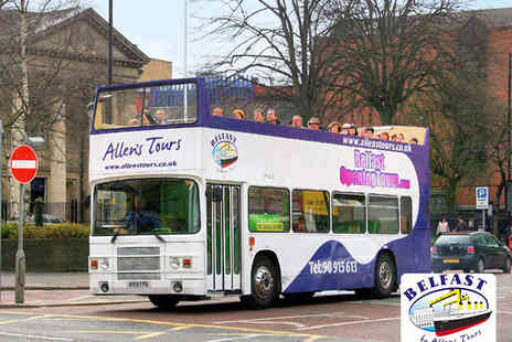 Allens Tours - Hop On, Hop Off Bus Tour of Belfast for Two - Save 50%