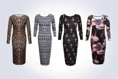 Shelikes - Stylish midi dress from Shelikes  - Save 50%