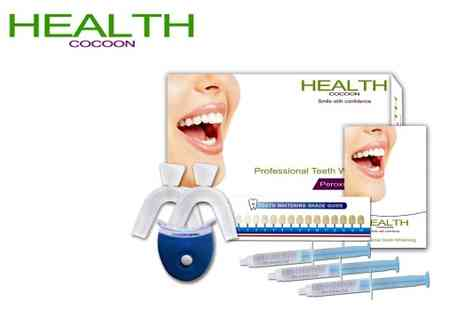 Health Cocoon - Get a smile like the stars Professional peroxide free teeth whitening kit - Save 87%