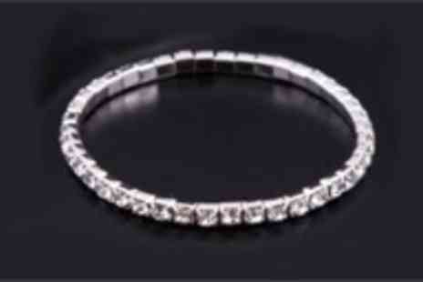 Antwerp Jewels - Tennis bracelet made with Swarovski elements - Save 97%