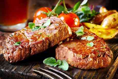 Merrylee Road & Bar Kitchen - Steak and wine meal for two - Save 58%
