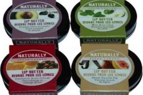 Lip Splash - Naturally By Upper Canada Lip Butter Pack of 4  - Save 62%