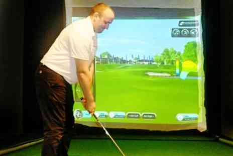 Indoor Golf Academies - Golf Simulator Session For Four With Paninis - Save 66%