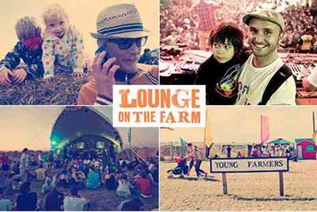 Lounge on the Farm - Family Festival in Kent  Adult and Family Weekend Tickets - Save 40%