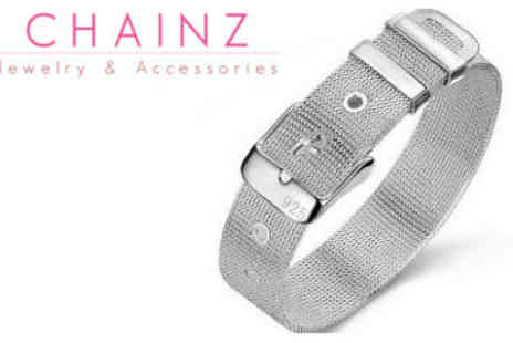 ChainzJewellery.com - Silver Plated Watchband Bracelet - Save 83%