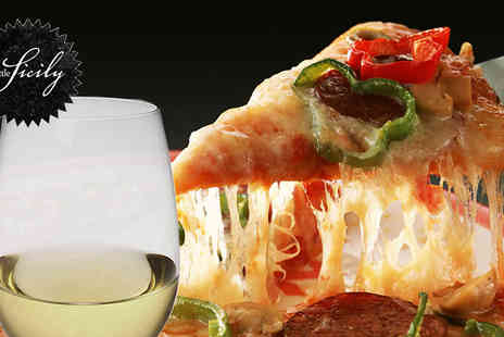 Little Sicily - Pizza meal plus a glass of wine - Save 66%