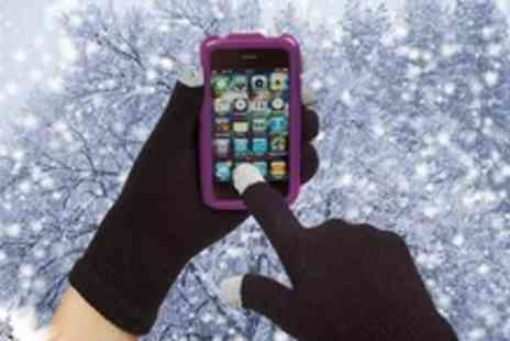 Bluebud.co.uk - Pair of touch screen gloves Keep your hands warm this winter whilst using your iPhone, Android or HTC - Save 60%
