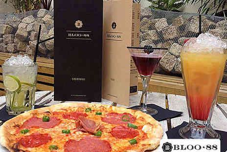 Bloo 88 - Stonebaked Classic Pizza and Fresh Cocktail Each for Two People - Save 56%