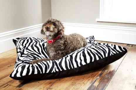 Textiles Direct - Animal Print Dog Bed With Deep Fill Cushion - Save 50%