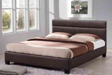 Sleep Design - Girona Bed in Black or Brown - Save 18%