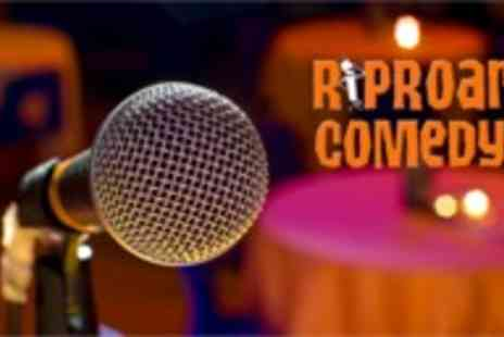 Riproar Comedy - Comedy evening for two with slow roasted pork or halloumi - Save 60%