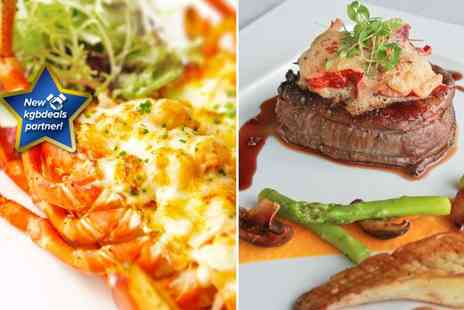 Siaim - Lobster thermidor or surf and turf dish for two - Save 52%
