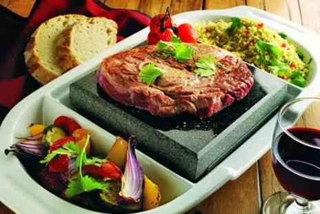 Steakhouse - Volcanic Rock Steak Meal With Wine For One - Save 52%