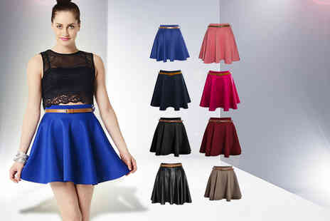 She Likes - Stylish summer skater skirt choose from 8 colours - Save 50%