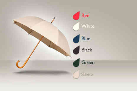 Umbrella Heaven - Warwick 'windproof' walking umbrella in a choice of colours - Save 35%