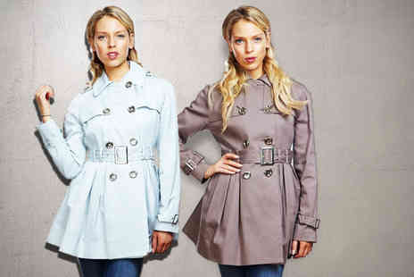 Evie Belle - Belted trench coat - Save 75%