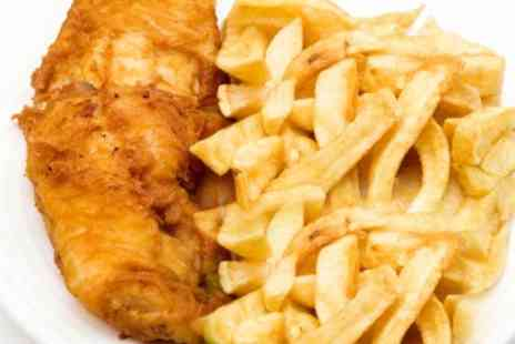 Tasty Plaice - Fish and Chips Plus Drink For Two - Save 52%