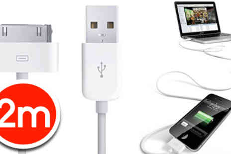RedHotDealz - 2m iPhone, iPod, or iPad charging cable - Save 87%