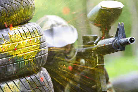 Combat Challenge - Half Day Paintballing with 100 Balls Each for Two People - Save 63%